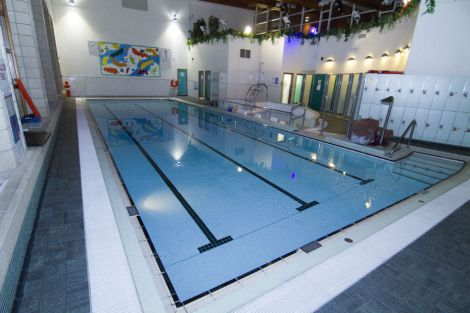 The swimming pool at the West Mainland Leisure Centre in Aith. Photo: SRT