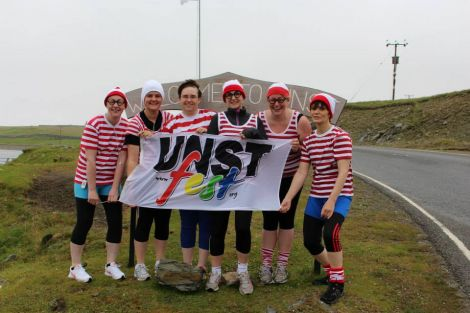 A team from the Wheres Wally half marathon in which 50 runners took part. Photo Desley Stickle