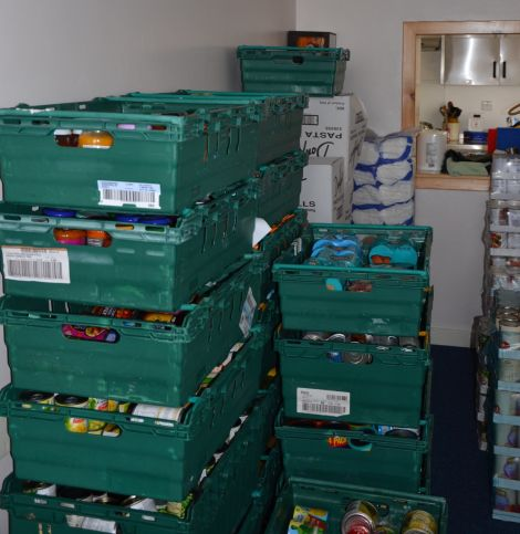 Along with 192 crates of food donated by Tesco customers, local shop Don Leslie's showed up at the Salvation Army's Lerwick premises with a Transit van full of food.