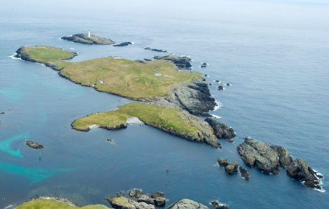 The island of Grunay - yours for £85,000 - Photos; courtesy of KnightFrank