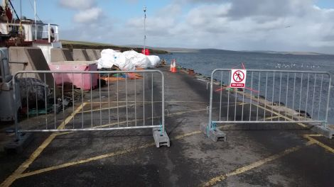 Access has been restricted as Toft pier has been described as being very close to the end of its working life - Photo: Courtesy of SIC