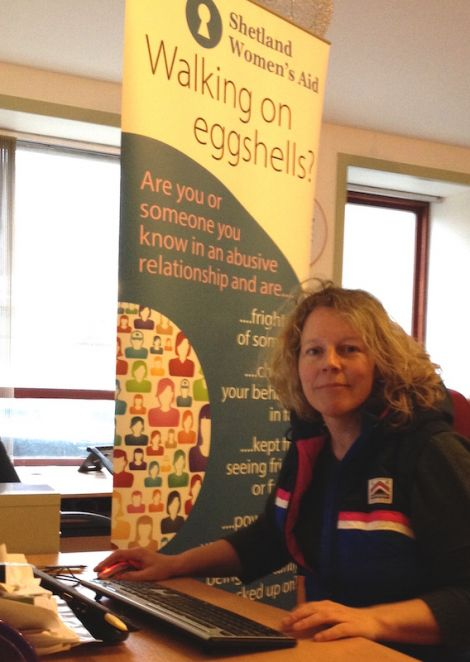 Shetland Women's Aid support worker Karen MacKelvie.