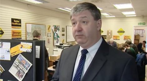 Alistair Carmichael giving an interview to Channel 4 News prior to May's general election.