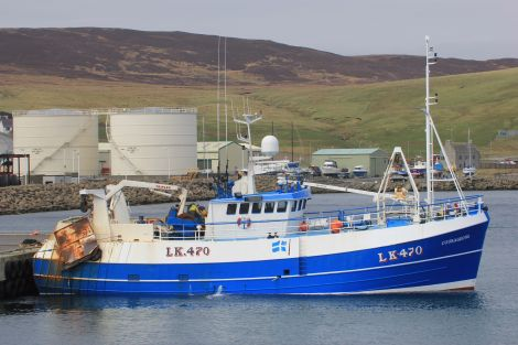 The Courageous joined Shetland's whitefish fleet in 2014. Fishing is worth £157 million a year, while seafood has an overall economic impact of some £584 million, according to a new study. Photo: Ian Leask.