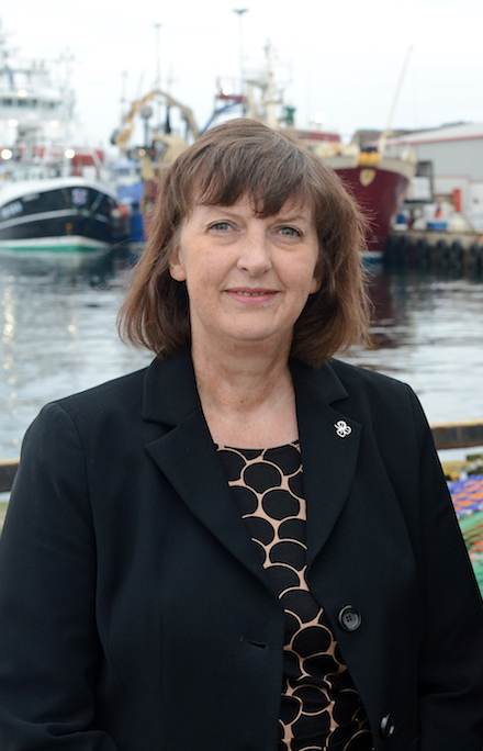 Lerwick Port Authority chief executive Sandra Laurenson remains upbeat about the future despite a downturn in traffic during the first nine months of this year. Photo LPA