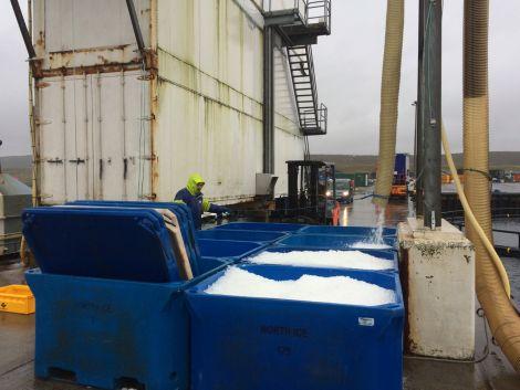 The Cullivoe ice factory cut its connection to the Nova Innovation tidal turbine. Photo Shetnews