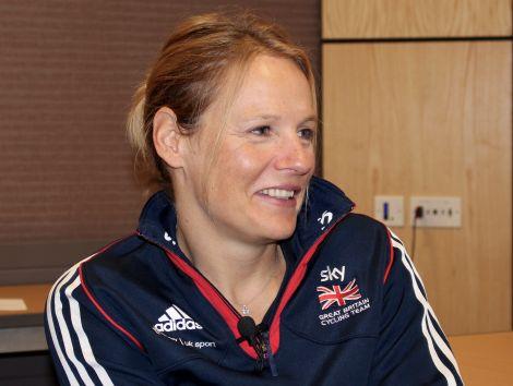 Paralympian Karen Darke in conversation at the Shetland Sports Conference. Photo: ShetNews/Chris Cope