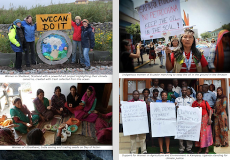 Four images from around the world being used to promote the WECAN day of action.