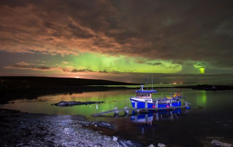 A photo of the northern lights by Johnny Simpson from Whalsay.