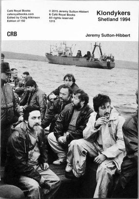 Only 150 copies of Jeremy Sutton-Hibbert's book have been published by Café Royal.