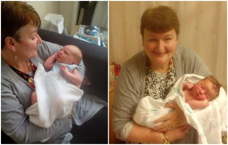 Joyce Reid's poem was inspired by her new grandchildren Euan (left) and Evie (right), born within three weeks of each other.