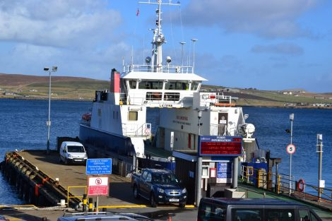 SNP candidate Danus Skene says the government is committed to giving Shetland Islands Council a fairer ferries deal. Photo: Shetnews/Neil Riddell