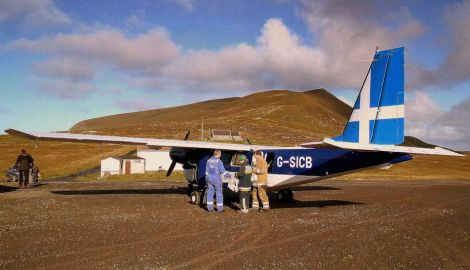 In the Hebrides, this Foula flight would be funded by Holyrood.