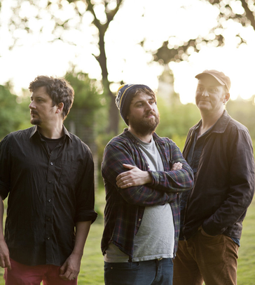 From left to right: Withered Hand, The Pictish Trail and James Yorkston.