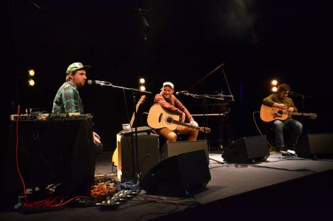 Johnny Lynch (aka Pictish Trail), James Yorkston and Dan Willson (aka Withered Hand) offered much jocularity at Mareel on Wednesday night.