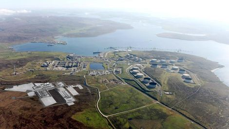 BP reported a gas leak at Sullom Voe oil terminal on saturday afternoon.