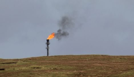 Black smoke pouring out of the new Shetland Gas Plant's flare stack will stop soon according to operator Total.