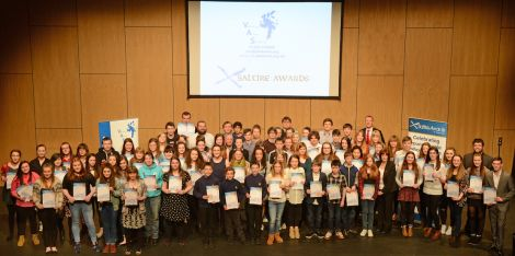 Volunteers galore! Scores of young people received certificates for their community efforts this week. Photo VAS