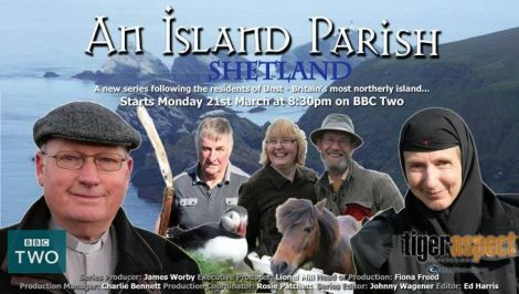 The BBC's promotional image for the series An Island Parish which began on BBC2 last month.