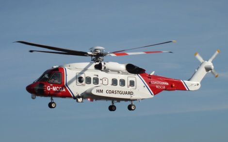 Two Coastguard helicopters are involved in the search.