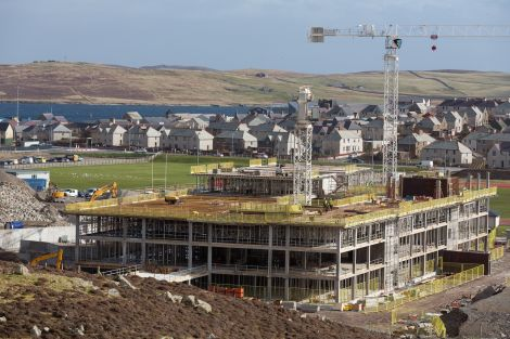 Work creating the fourth floor of the new school commenced earlier in March - Photo: John Coutts