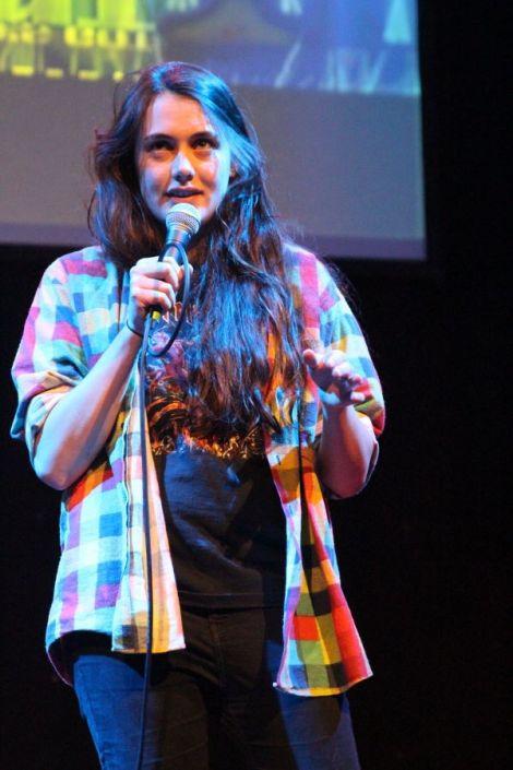 Marjolein Robertson at the the recent Shetland's Got Talent show - Photo: Davie Gardner