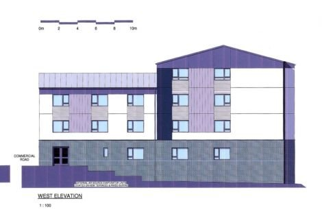 An architect's image of the planned student accommodation.