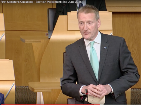 Tavish Scott used the opportunity of First Minister's Questions to raise his concerns about the way SLAP is treating HNP.