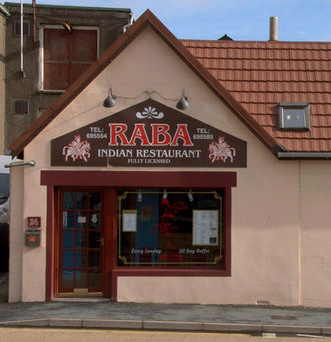 The Raba Restaurant on Lerwick's Commercial Road was one of four premises raided.