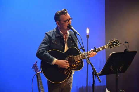 One of Yorkshire's very finest, Richard Hawley, on stage at Mareel on Tuesday night. Photo: Shetnews/Kelly Nicolson Riddell
