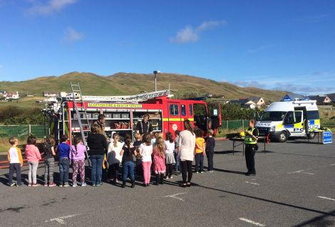 Pupils learning about the emergency services - Photo: Shetland police