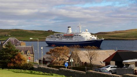The Marco Polo is the last cruise liner to visit this year - Photo: Chris Cope/ShetNews