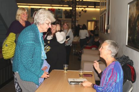 Ann Cleeves signed copies of her new book Cold Earth out in the Mareel foyer. Photo: Davie Gardner