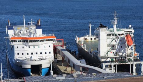 The passenger walkway to access NorthLink ferries docked in Lerwick has been out of action in recent days.