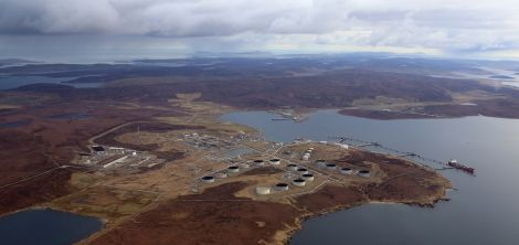 Sullom Voe oil terminal's power plant breached sulphur dioxide levels in late 2015. Photo courtesy of BP