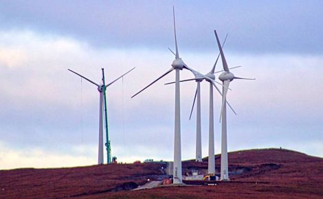 All five turbines of the community owned wind farm at Cullivoe have been erected - Photo: NYDC