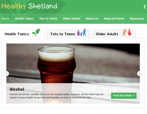 The health improvement team can be contacted via the www.healthyshetland.com website