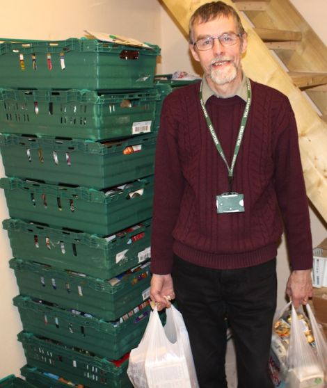 Foodbank manager David Grieve: 'I can only see demand for the foodbank going up' - Photo: Chris Cope/Shetland News