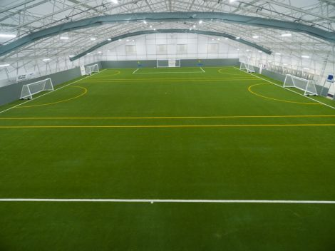 The area can be split into three five-a-side pitch areas.