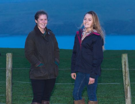 Kirsty and Aimee Budge of Bigton Farm.
