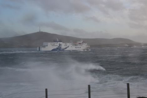 Stormy seas have disrupted the ferry timetable. Photo: Shetland News/Neil Riddell