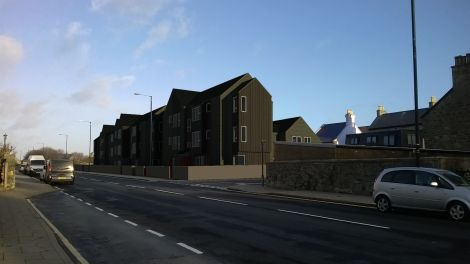 PJP Architects' drawing of the prospective King Harald Street development in Lerwick.