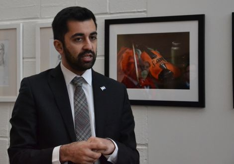 Scottish transport and islands minister Humza Yousaf was in the islands on Monday. Photo: Shetland News/Neil Riddell