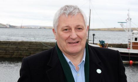 Highlands and Islands list MSP John Finnie in Lerwick last year. Photo: Chris Cope/Shetland News