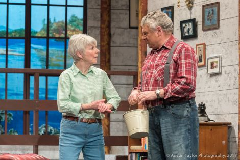 Aging retiree Norman (played by Andy Long) with his dutiful wife Ethel (Christine Geldard) - Photos: Austin Taylor