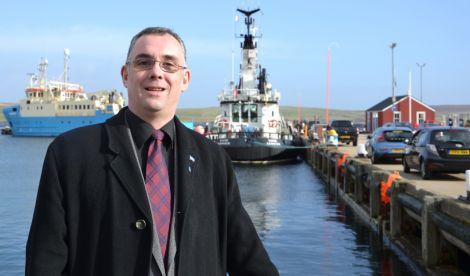 Lerwick North council hopeful John Fraser. Photo: Shetland News/Neil Riddell