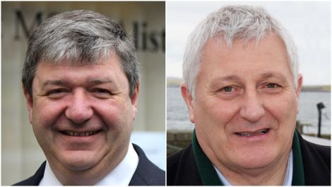 Northern Isles MP Alistair Carmichael and Highlands and Islands list MSP John Finnie of the Scottish Greens.