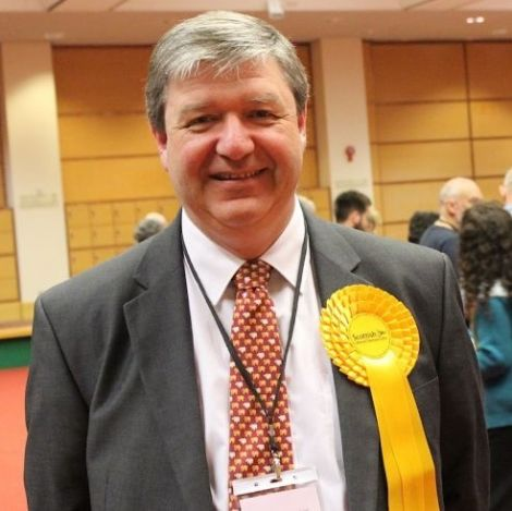 Alistair Carmichael after winning re-election back in May 2015.