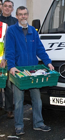 David Grieve of the Shetland Foodbank.