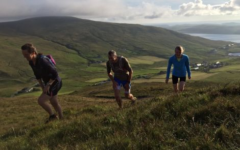 Training sessions are already under way on the Quarff hills.